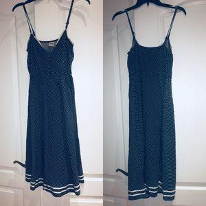 Disney polka dot midi dress Fits S/M blue